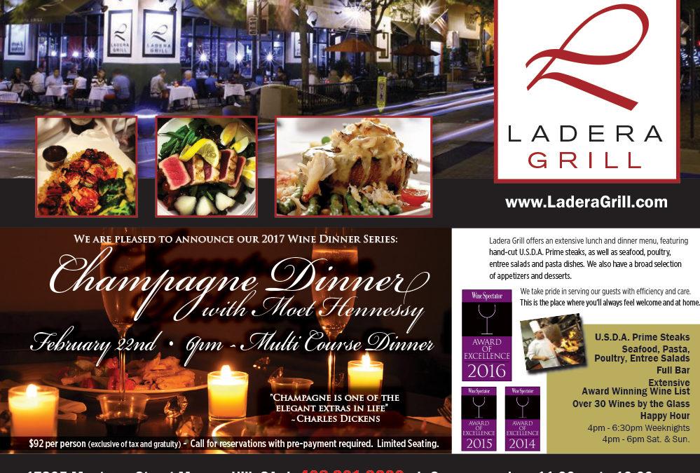 We are pleased to announce our 2017 Wine Dinner Series